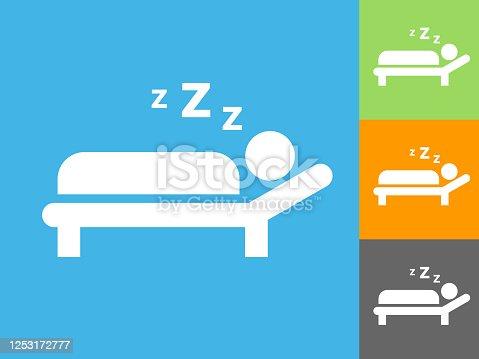 istock Sleeping Icon 1253172777
