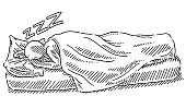 Sleeping In Bed Human Figure Drawing