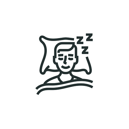 Sleeping Line Icon
