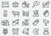 Sleeping Line Icons