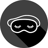 istock Sleeping Mask Icon Silhouette 1254276478