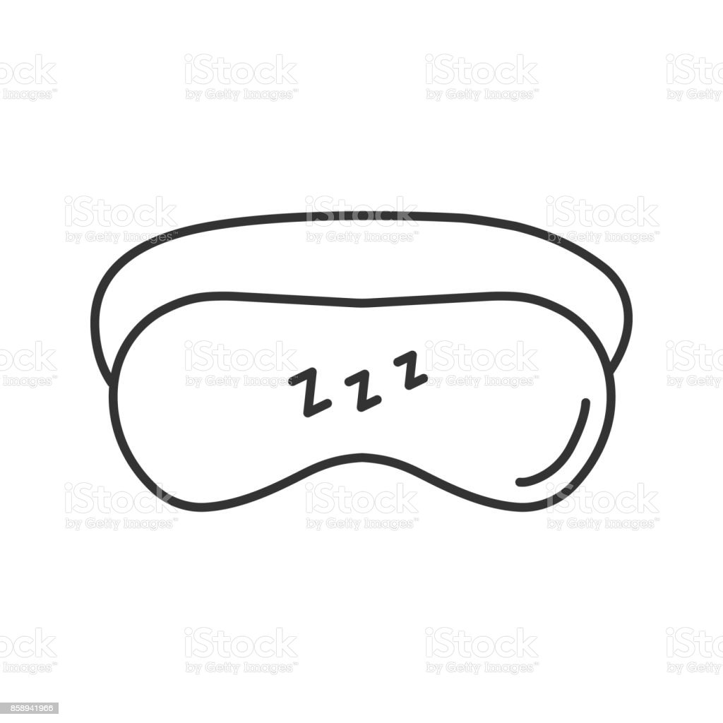 Icono de máscara para dormir - ilustración de arte vectorial