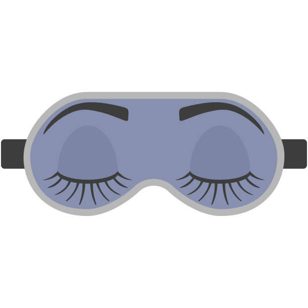 Ilustración de la máscara para dormir - ilustración de arte vectorial