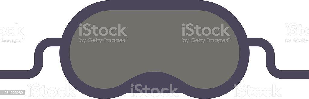 Sleeping mask vector illustration. - ilustración de arte vectorial
