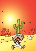 A mexican's sleeping under a cactus. A high rez jpeg & ai. file come with this image. Enjoy.