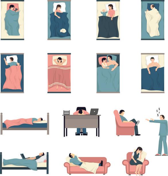 schlafende Menschen gesetzt – Vektorgrafik