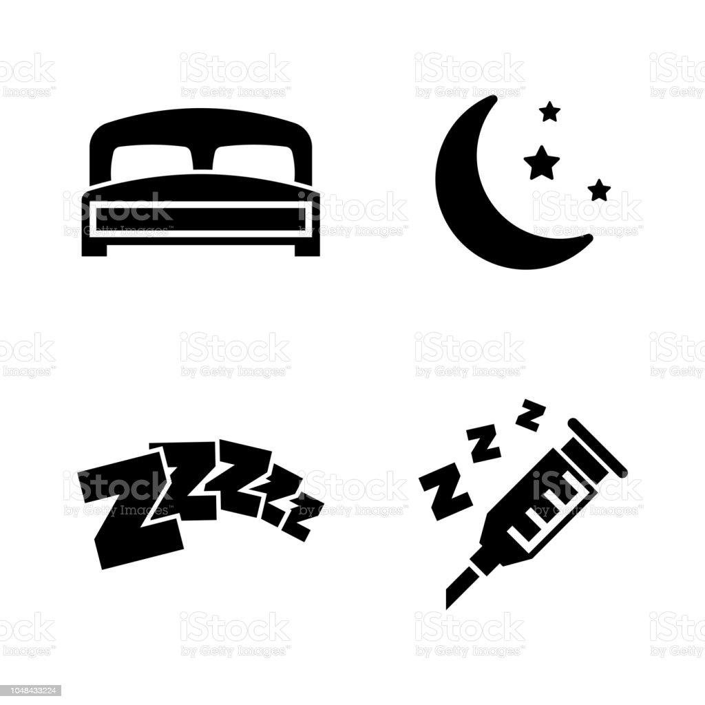 Dormir. Icônes vectorielles connexe simple - Illustration vectorielle