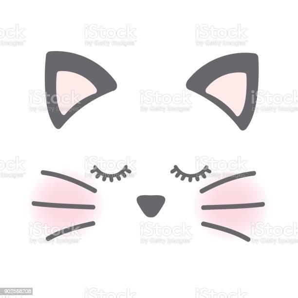 Sleepy cat face on white background vector id902568208?b=1&k=6&m=902568208&s=612x612&h=vycojaay4wolxg0gowxnkw1tsmdvj06kbdrcuh0nelc=