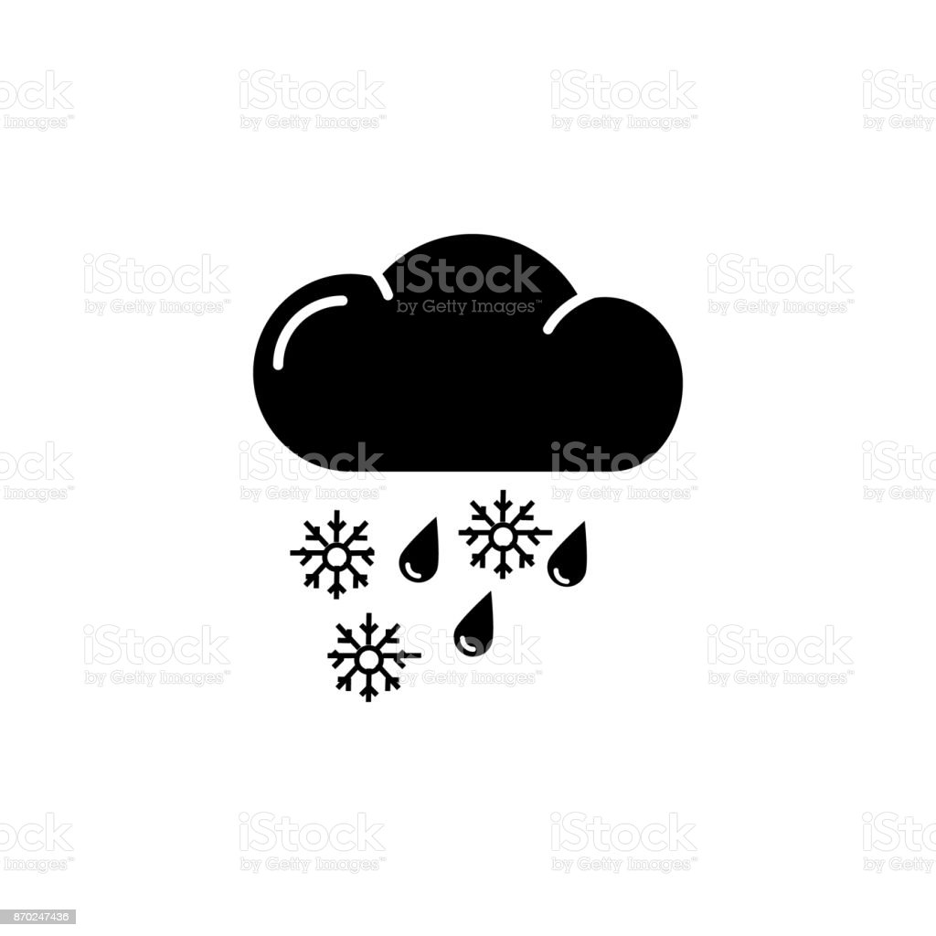 Sleet Icon vector art illustration