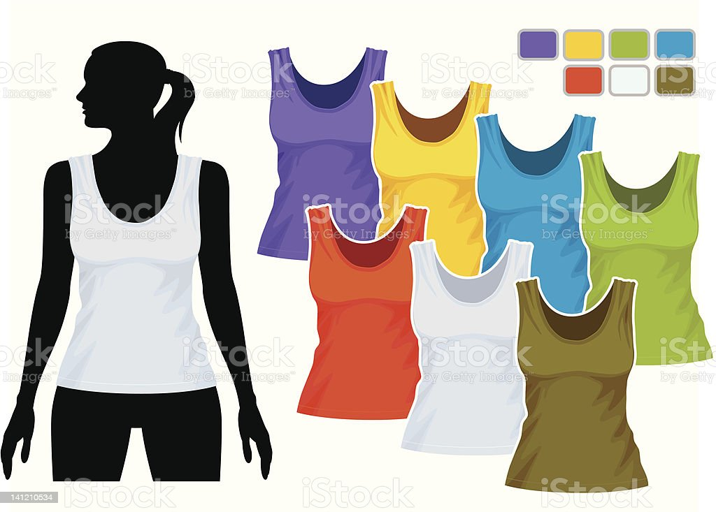Sleeveless shirt template royalty-free stock vector art