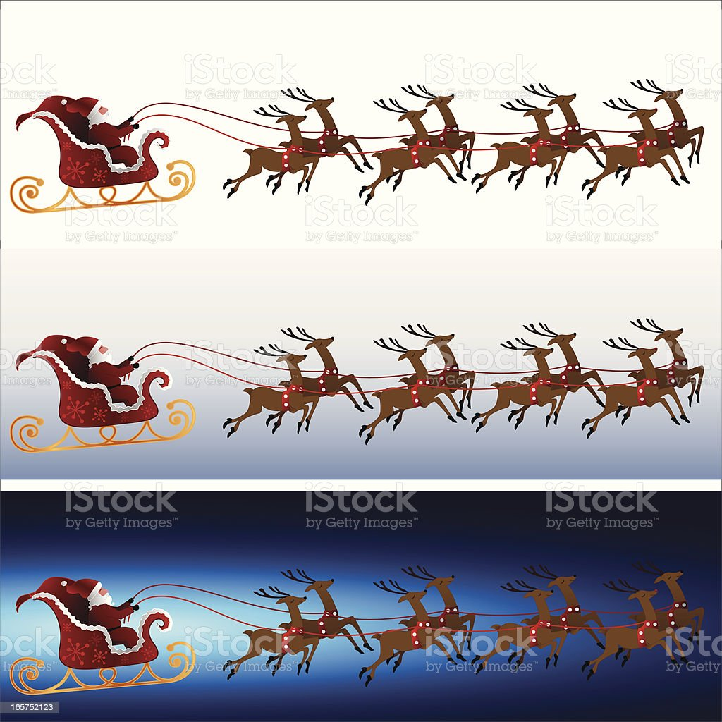 Sleigh Ride Banners royalty-free sleigh ride banners stock vector art & more images of antler