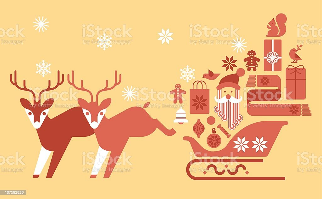 Sleigh with gifts royalty-free sleigh with gifts stock vector art & more images of bell