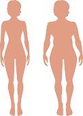 slender and full female figures