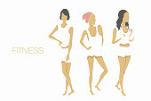 slender shape fitness girls