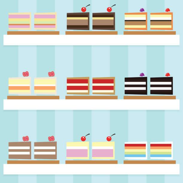 stück kuchen - tiramisu stock-grafiken, -clipart, -cartoons und -symbole