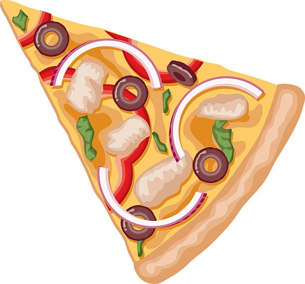 ilustrações de stock, clip art, desenhos animados e ícones de fatia de pizza de frango de churrasco - red bell pepper isolated