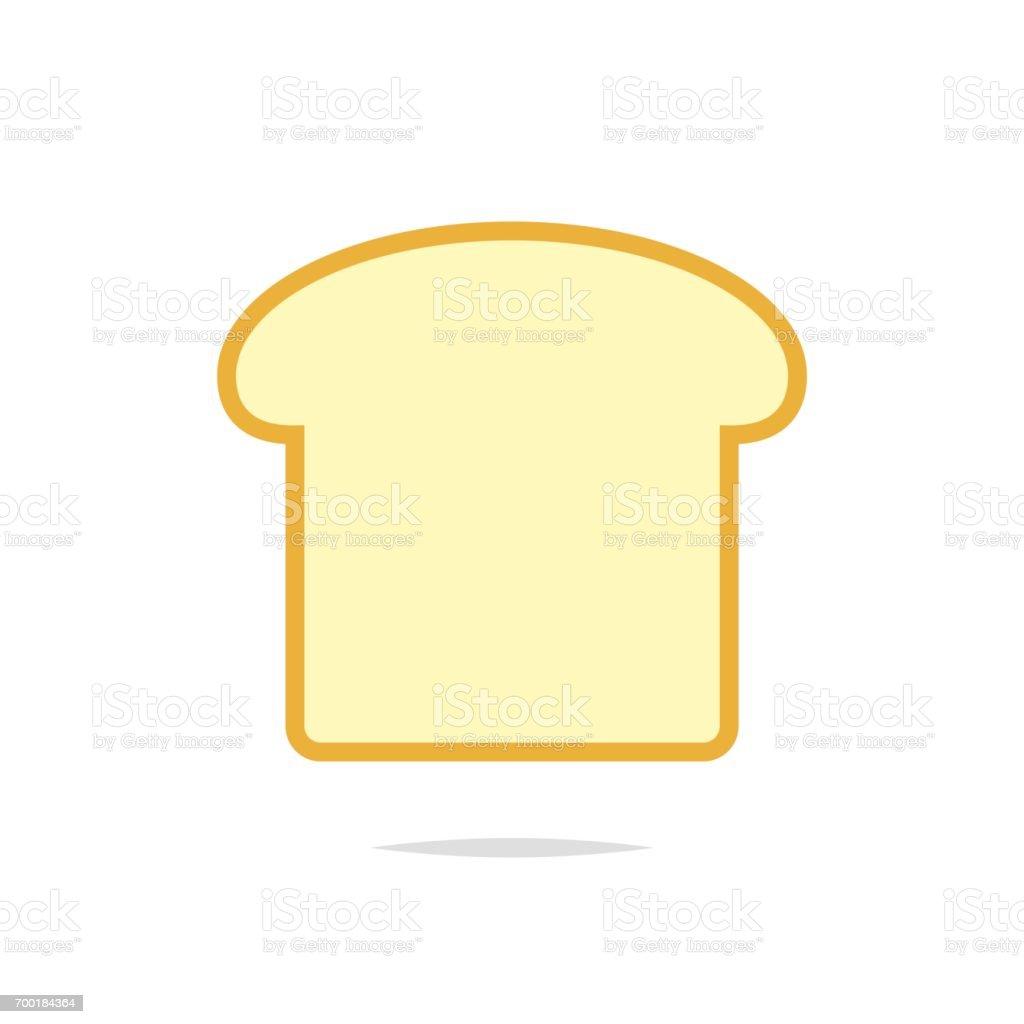 Rebanada de vector icono de pan - ilustración de arte vectorial