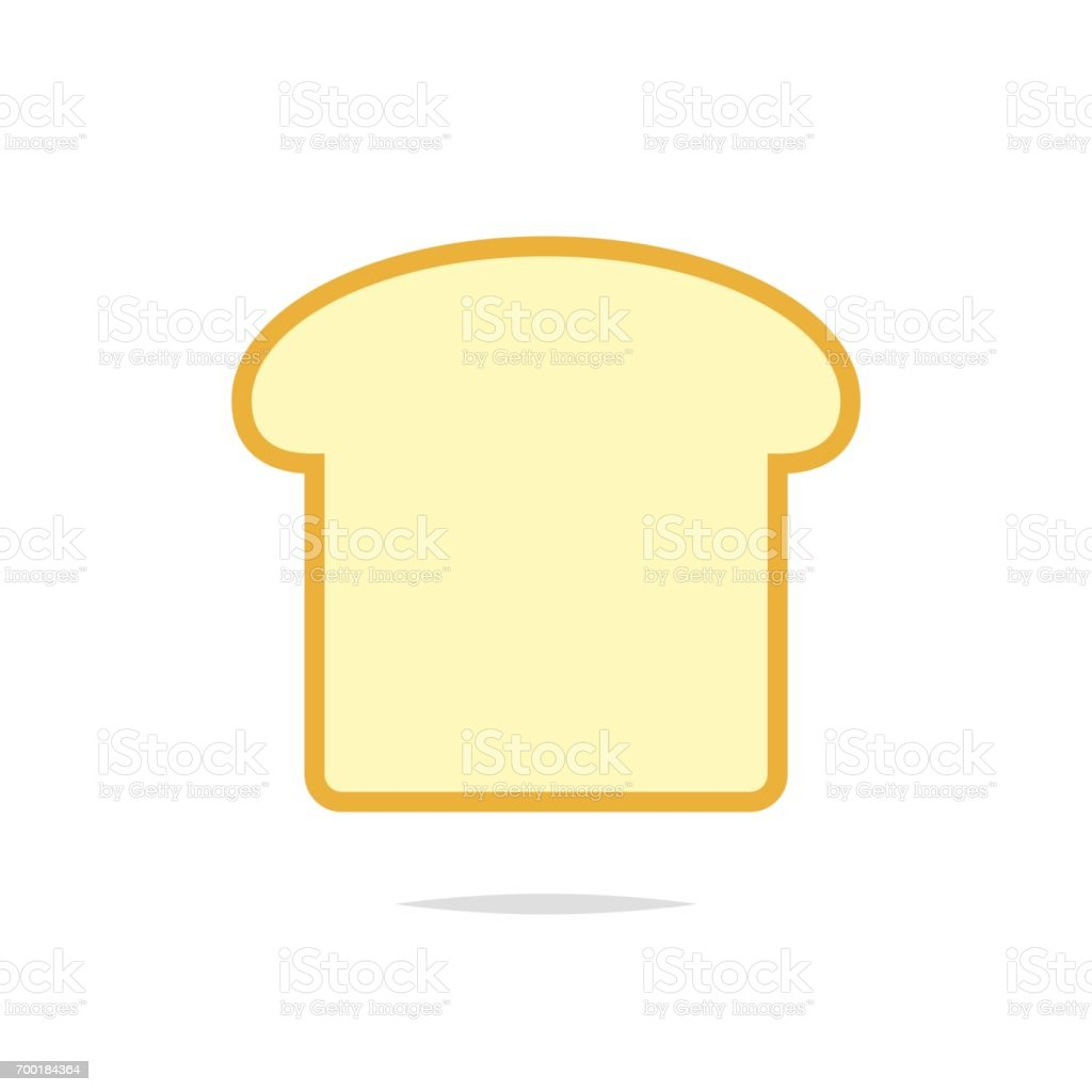 Slice of bread icon vector vector art illustration