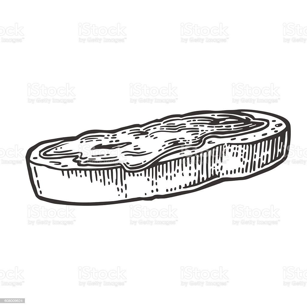 slice of fresh bread with jam イラストレーションのベクターアート