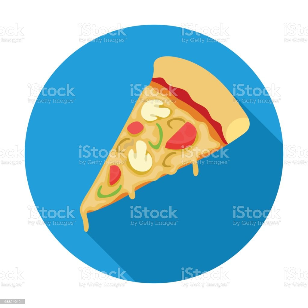 Slice of pizza icon in flat style isolated on white background. Pizza and pizzeria symbol stock vector illustration. royalty-free slice of pizza icon in flat style isolated on white background pizza and pizzeria symbol stock vector illustration 0명에 대한 스톡 벡터 아트 및 기타 이미지