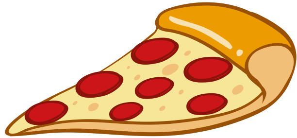 Royalty Free Slice Of Pizza On White Clip Art, Vector ...