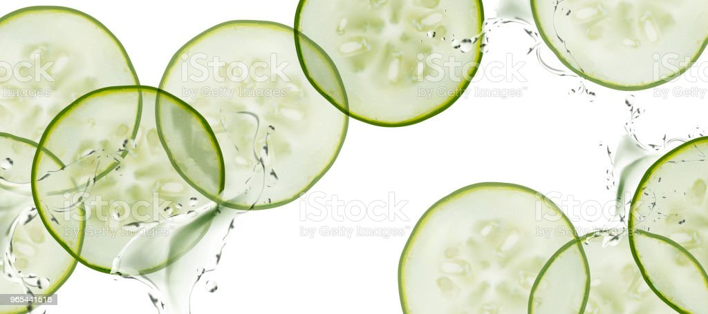 Sliced cucumber background sliced cucumber background - stockowe grafiki wektorowe i więcej obrazów bez ludzi royalty-free