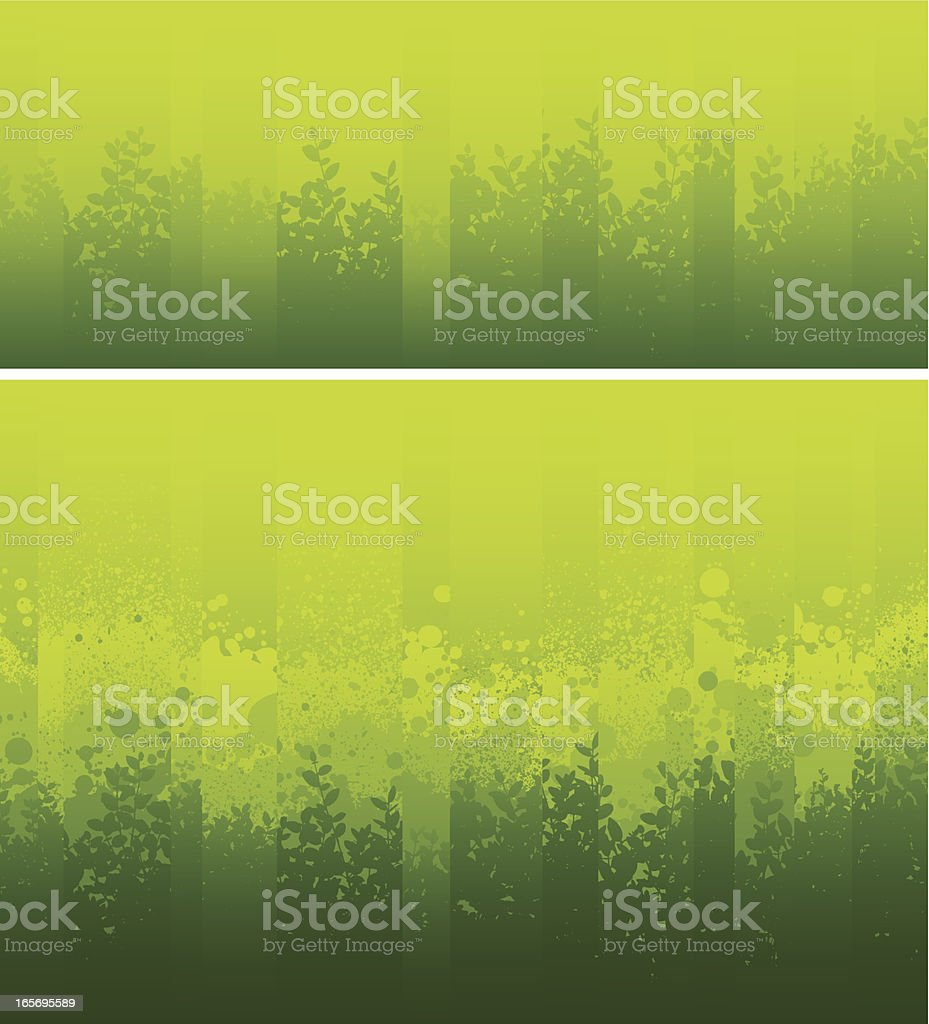 Sliced green background