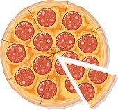 istock Sliced Pepperoni Pizza 165930839