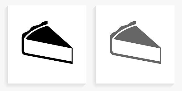 Sliced Pie Black and White Square Icon