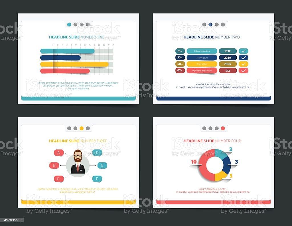 slide business templates infographics for leaflet poster slide