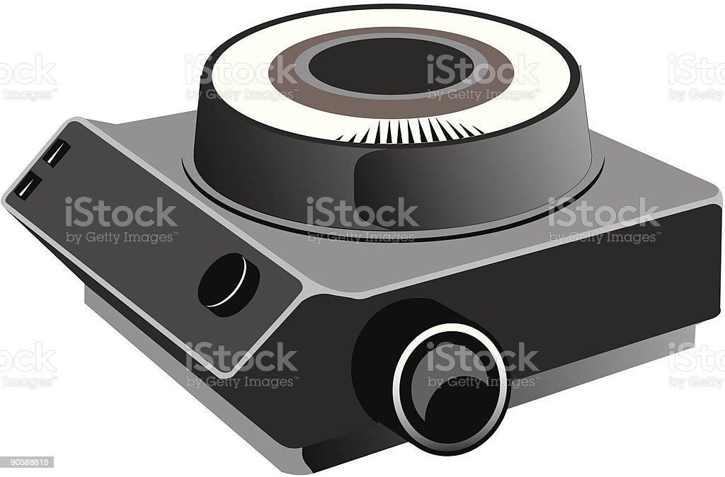 Slide projector royalty-free stock vector art