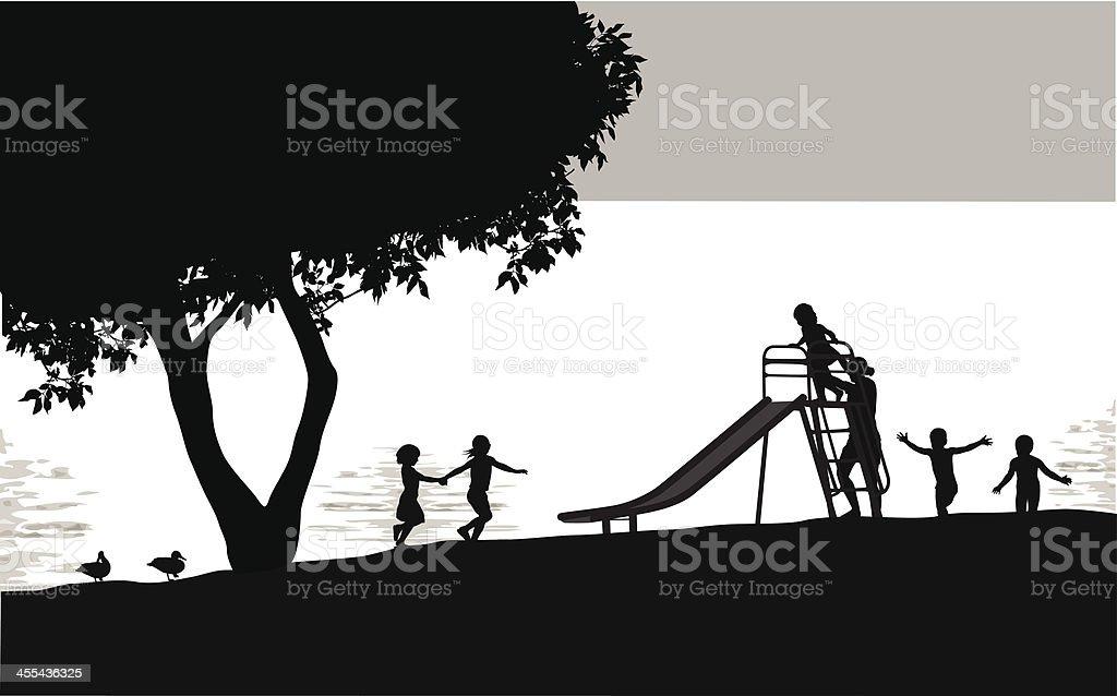 Slide Vector Silhouette royalty-free stock vector art