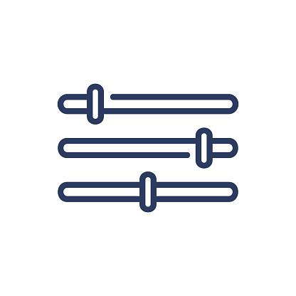 Slider bars thin line icon