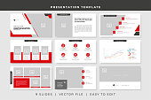 9 slides business powerpoint presentation template. presentation vector design template