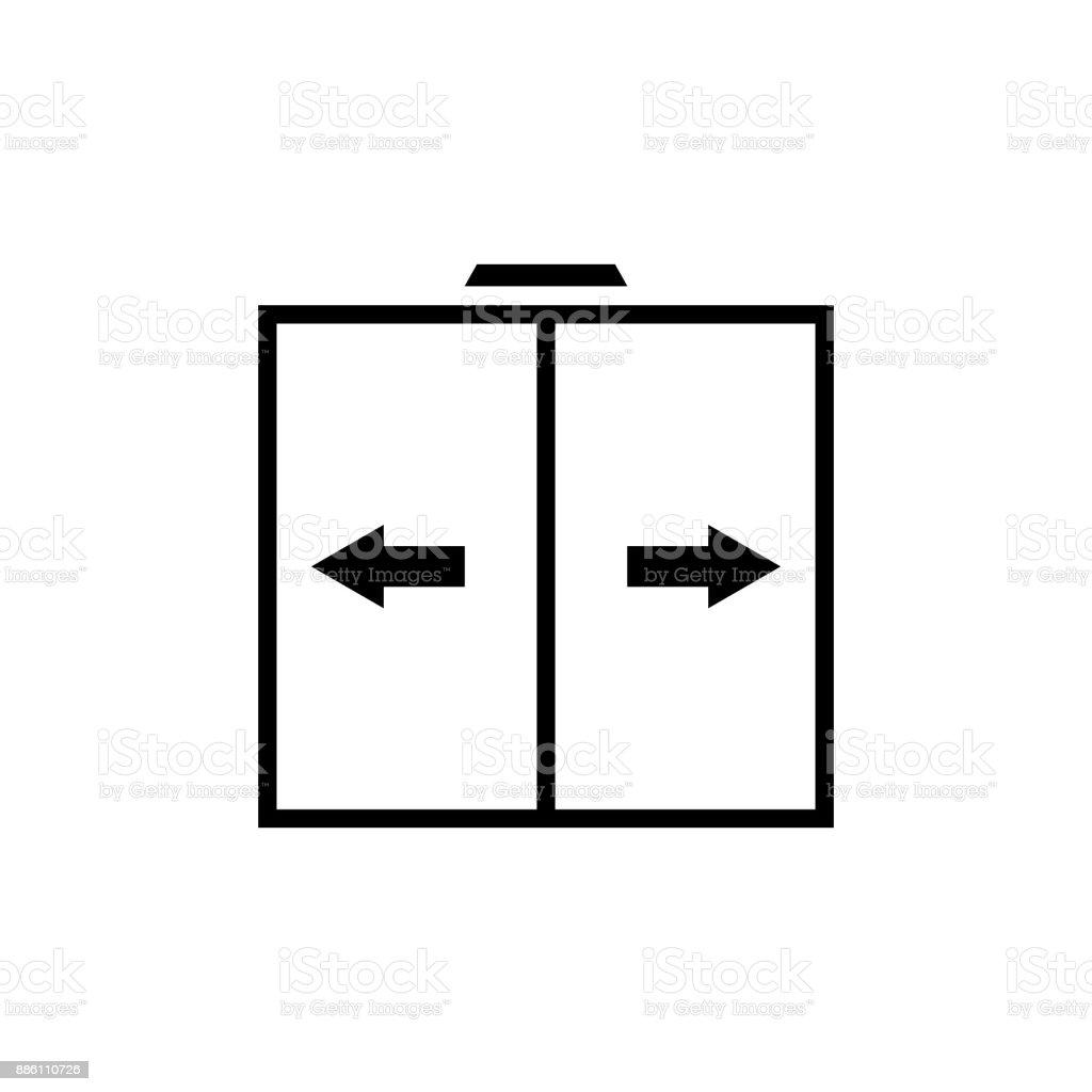 Sliding door vector icon automatic door icon royalty-free sliding door vector icon automatic  sc 1 st  iStock & Sliding Door Vector Icon Automatic Door Icon Stock Vector Art \u0026 More ...