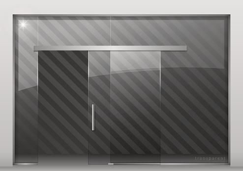 Sliding glass partition