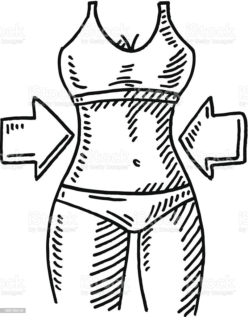 Slim Body Shape Arrow Fitness Drawing Stock Vector Art & More Images ...