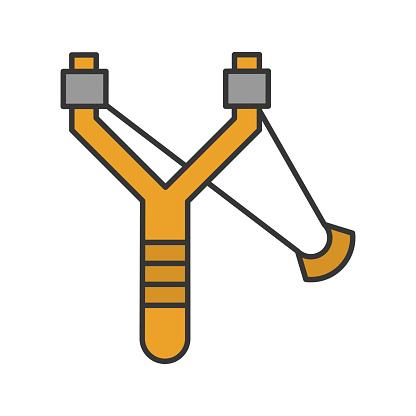 Slingshot Icon - Stockowe grafiki wektorowe i więcej obrazów Broń
