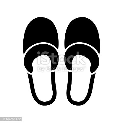 istock Slippers icon, logo isolated on white background 1204283172