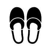 istock Slippers icon, logo isolated on white background 1204283172