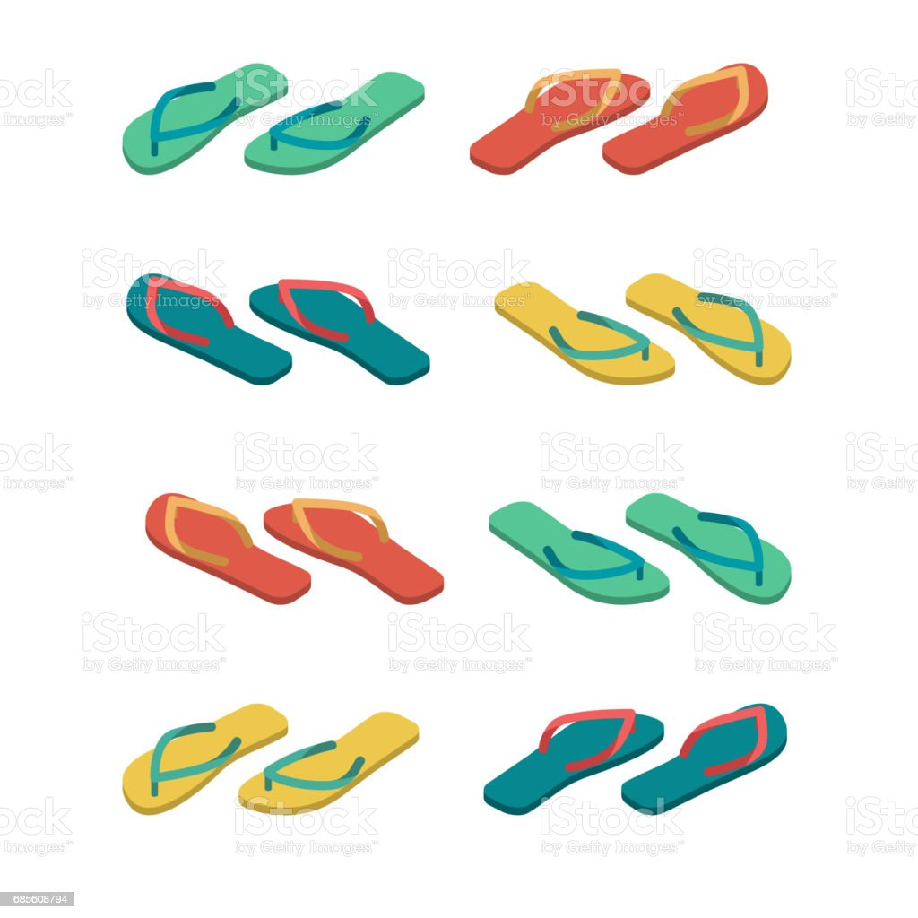 Slippers isolated. Summer shoes. Beach Boots sign royalty-free slippers isolated summer shoes beach boots sign stock vector art & more images of arts culture and entertainment