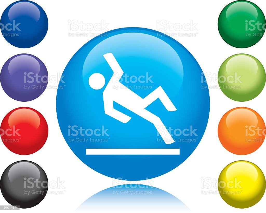 Slippery when wet icon with different color choices royalty-free stock vector art