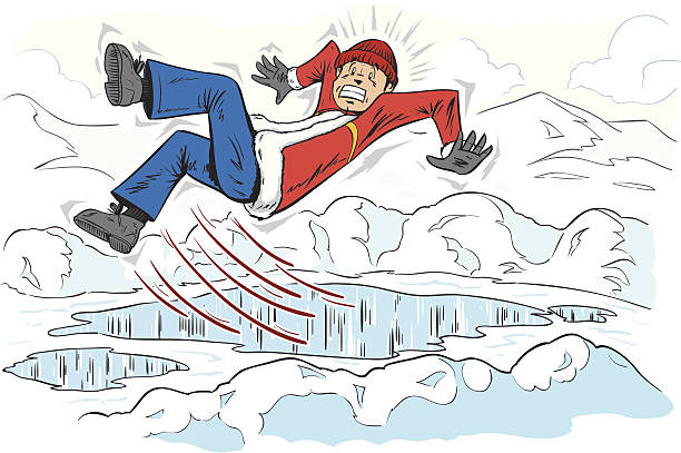 Slipping On Ice Clipart