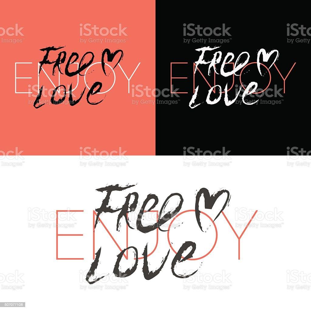スローガン無料の愛のテキストのプリント のイラスト素材 507077106