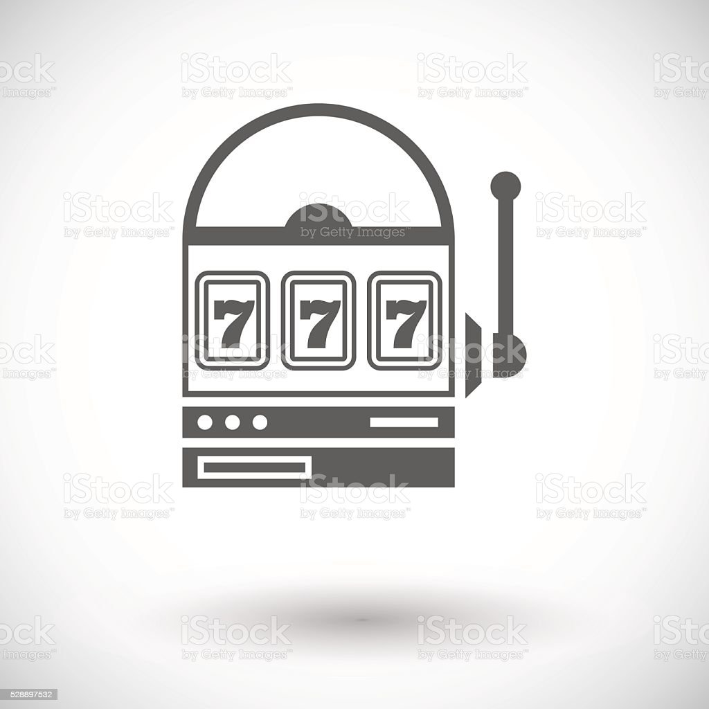 Slot icon vector art illustration
