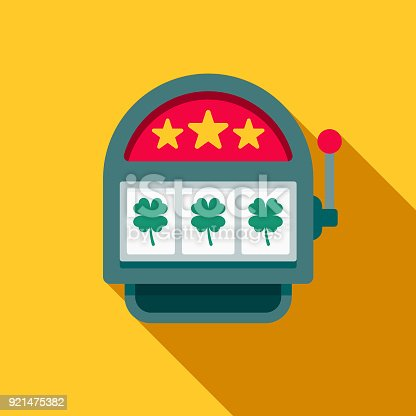 istock Slot Machine Flat Design Casino Icon with Side Shadow 921475382
