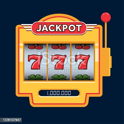 istock Slot machine game yellow. Win 777 jackpot. Jackpot triple seven. Lucky seven. Casino vegas game 1226107947