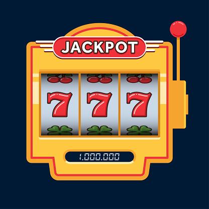 Slot machine game yellow. Win 777 jackpot. Jackpot triple seven. Lucky seven. Casino vegas game