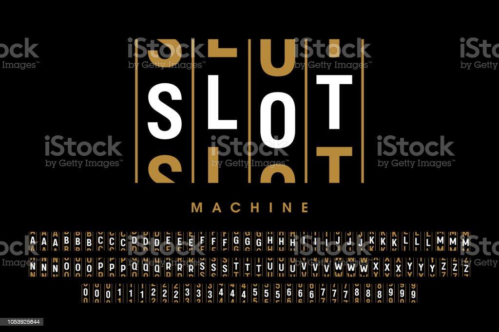 Vegas slot machine font casinos hiring in laughlin nv
