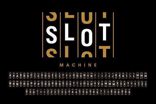 Slot machine style font